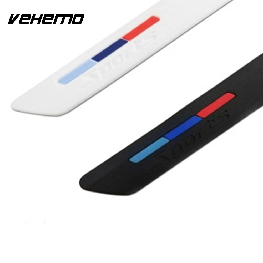 Vehemo Bumper Strip Sticker Strips Trim Cover Front Bumper 40x4x1cm Silicone Durable Car Protector Surrounded Door Universal