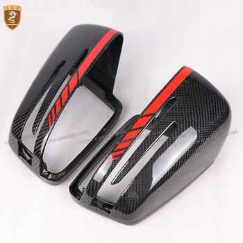 Real Carbon Fiber Mirror Cover For Mercedes Benz W204 W176 W117 W218 W212 W207 X156 A C E CLA CLS GLA Class Replacement Style