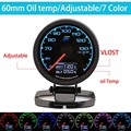 60mm 7 Color in 1 Racing Gauge GReddi Multi D/A LCD Digital Display Oil Temp Gauge Car Gauge 2.5 Inch