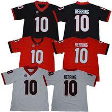 422409d0d 2018 Men s Georgia Bulldogs Malik Herring 10 College Football Jerseys-  White Red Black Stitched Size