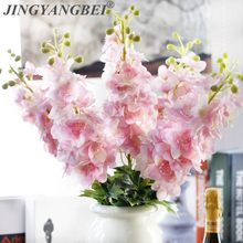 Fleurs artificielles en Latex de jacinthe Delphinium, 80CM, fausses fleurs, pour un mariage, pour décorer la maison