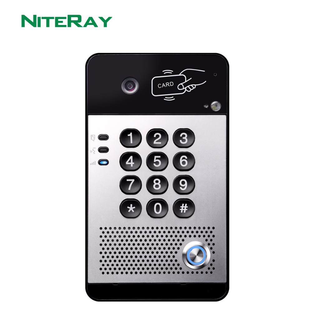 где купить SIP Video Door Phone Video Intercom System Compatible With Asterisk/Alcatel/Avaya/Cisco PBX дешево