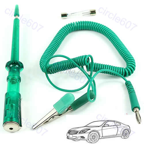 Auto Circuit Tester 6V 12V 24 Volts Voltage Gauge Car Test VoltMeter Light Bulb