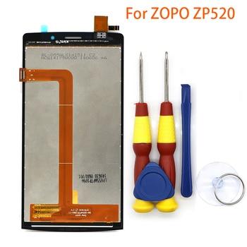Nueva pantalla táctil LCD original para ZOPO zp520, montaje del digitalizador con piezas de repuesto + herramienta de desmontaje