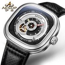 AESOP 9023 Suisse montres hommes de luxe marque sept squelette automatique mécanique top qualité Vendredi gris relogio masculino