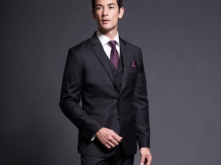 Free shipping Italian worsted groom suit Men Formal Business suit ...