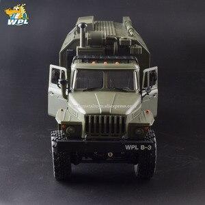 Image 4 - WPL B36 1:16 Ural RC Car 6WD Military Truck Rock Crawler Command Communication Vehicle KIT Toy Carrinho de controle