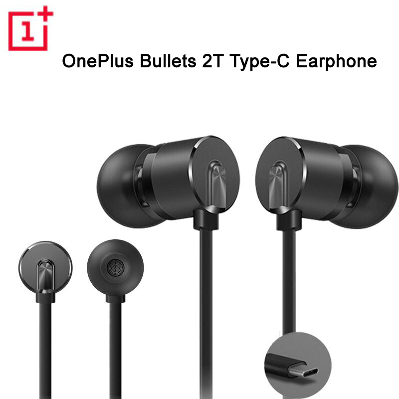 Original OnePlus Type-C Bullets Earphones OnePlus Bullets 2T In-Ear Headset With Remote Microphone For Oneplus 6T Mobile Phone