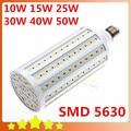 5630 SMD10W 15 W 25 W 30 W 40 W 50 W E27 E14 220 V milho 42 60 86 102 132 165 LED milho lâmpada lâmpada frio / quente branco frete grátis
