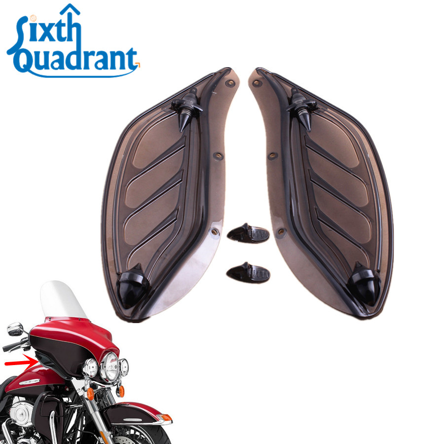 Covers & Ornamental Mouldings Motorcycle Accessories & Parts Honey Dark Smoke Abs Adjustable Air Deflectors Side Wing Cover For Harley Street Glide Electra Glide Tri Glide Models 2014-2016