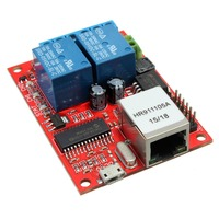 New Arrival Electronic Kit Circuit Board LAN Ethernet 2 Way Relay Board Delay Switch TCP UDP