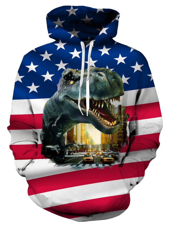 New Fashion Dinosaur Lion Tiger Alpaca Sloth Galaxy Men Hoodies Sweatshirts 3d Print Sweatshirts Cap Tops Men Hooded Nebula Jacket Dropship Men's Clothing