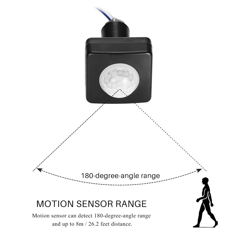 Ultrathin LED Flood Light PIR Motion Sensor Detector Waterproof Outdoor 85-265V IP65 LED Motion Sensor Adjustable