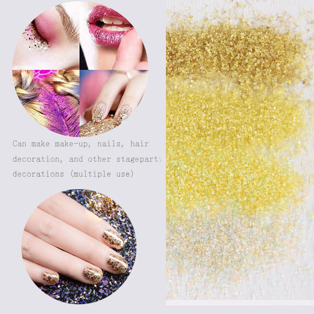 4 Boxes Fluorescent Sugar Nail Art Glitters Powder Dust Sandy Sequins Iridescent Glitter Decoration Tips Manicure sticker