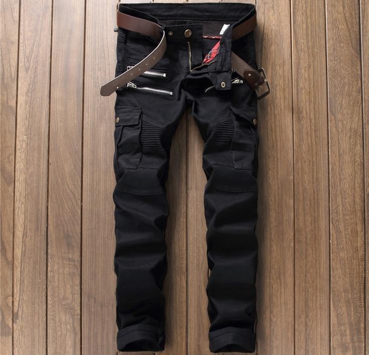 В европейском и американском стиле Для мужчин джинсы люксовый бренд Для мужчин; повседневные джинсы джинсовые штаны полосы Тонкий черный к...