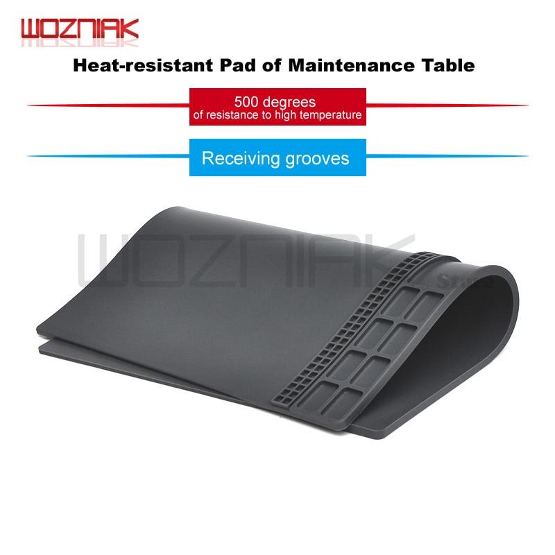 Wozniak Belt Sink Mobile Phone Maintenance Work Pad High Temperature Resistance Tabletop Silica Gel Cushion Power Tool Sets     - title=