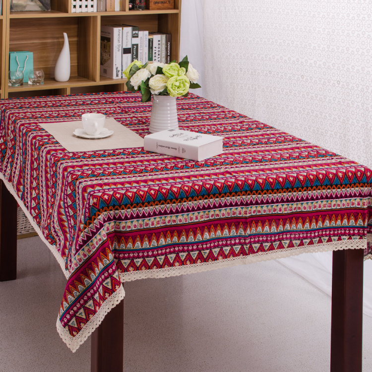 Bohemian Ethnic Dining Lace Tablecloth Canvas Cotton Table Cloth For Picnic  Outdoor Coffee Wedding Table Cover Toalha De Mesa In Tablecloths From Home  ...
