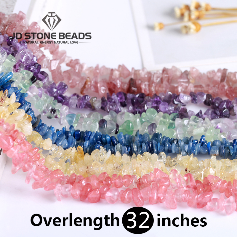 Wholesale Natural Quartz Stone Irregular Shape Freeform Chip Beads Amethysts Citrine Tiger Eye For Jewelry Making DIY Bracelet