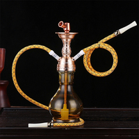 High end Fashion Portable Gift Box Hookah Weed Grinder Pipe Grinder Smoking Pipes Narguile Tobacco Pipe Hookahs
