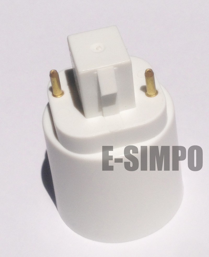 E Simpo 4 Pack 2P GX24 to E26/E27 Lamp Base Converter,15.5mm,Gx24q 1 Gx24q  2,Gx24q 3 to E27 Lamp Holder Converter-in Lamp Holder Converters from  Lights ...