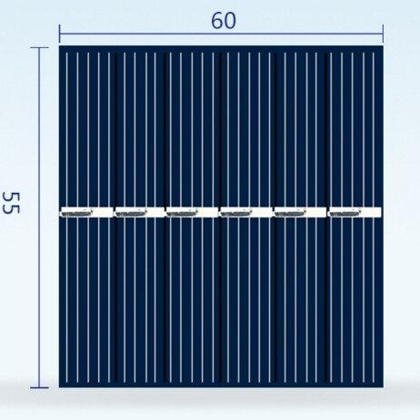 مصغرة Polycrystaline لوحة شمسية من السيليكون 3V 150MA ل الاستخبارات DIY لعبة الطاقة الجيل مجلس مع DC صغيرة مروحة محرك كاب