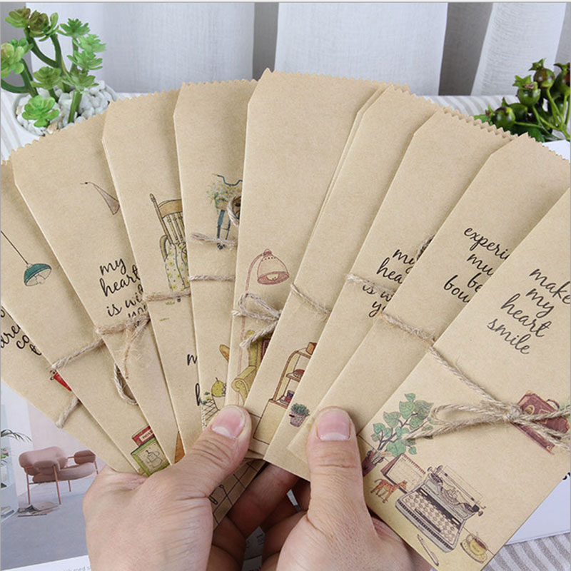 Купить с кэшбэком 5pcs/lot Simple life  envelope writing paper stationery kawaii birthday christmas cpostcard Gift cards Graffiti DIY Stationery