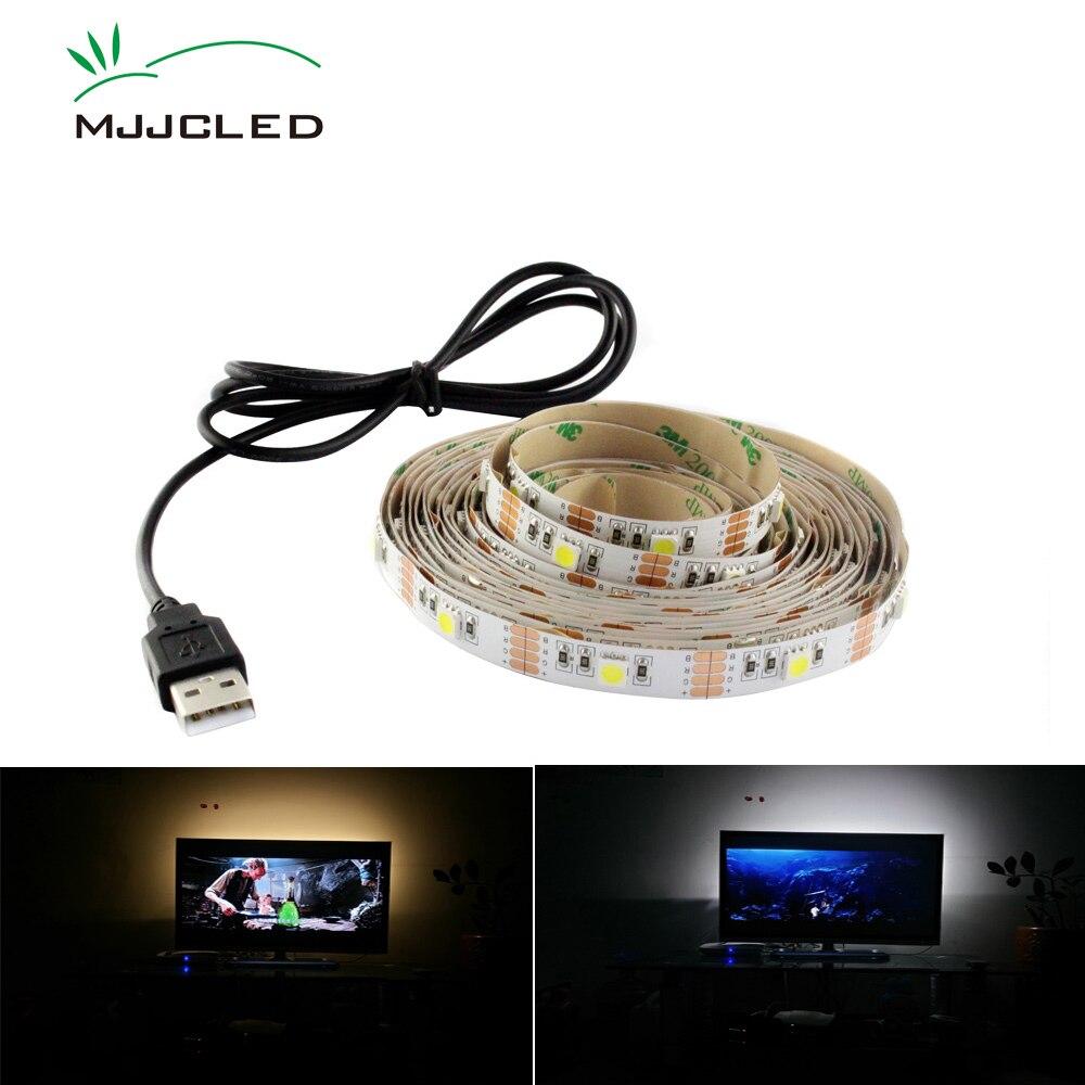 ambilight tv usb led strip 5v rgb tira led usb tape light smd 5050 ribbon flexible backlight for. Black Bedroom Furniture Sets. Home Design Ideas
