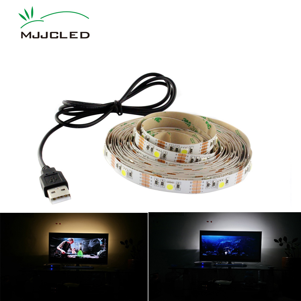 Ambilight TV USB <font><b>LED</b></font> Strip <font><b>5V</b></font> RGB Tira <font><b>LED</b></font> USB Tape Light SMD <font><b>5050</b></font> Ribbon Flexible Backlight for TV Computer Bias Lighting image
