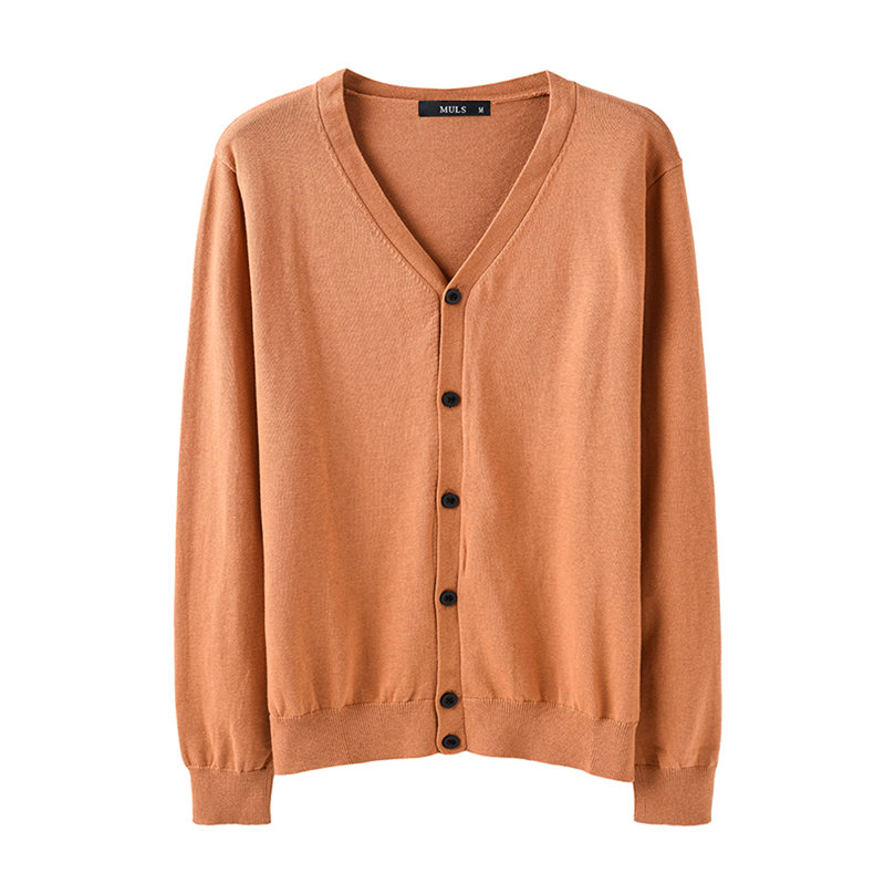6Colors Men Cardigan Sweater Pure Cotton Knited Sweater Men Spring Autumn Winter Male Cardigans Brand Muls Fitted M L XL 2XL 3XL-03