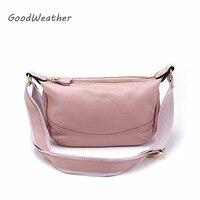 Genuine Leather Cross Body Bag Designer Pink Shoulder Bag Fashion Messenger Bag Women Soft Real Leather Crossbody Bags For Woman