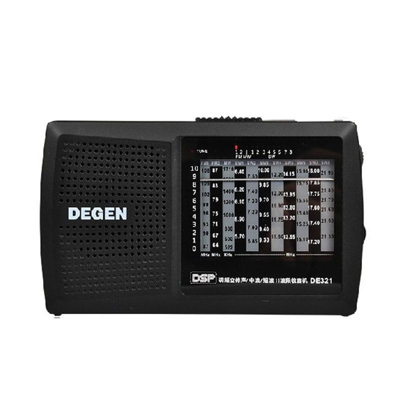 Degen original de321 fm estéreo rádio digital mw sw rádio dsp mundo banda receptor de alta qualidade portátil rádio fm melhor preço