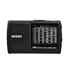 الأصلي ديجين de321 FM ستيريو راديو رقمي MW SW راديو DSP العالمي الفرقة استقبال عالية الجودة راديو محمول FM أفضل الأسعار