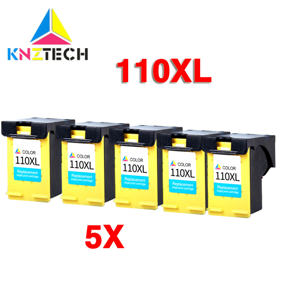 5x ink cartridge compatible for <font><b>hp110</b></font> 110XL replacement for 110 CB304A A516 A526 A612 A617 A618 image