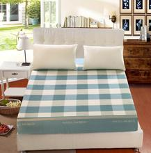 cotton twin full queen size 1pcs fitted sheet mattress cover with elastic mattress lattice cartoon flowers
