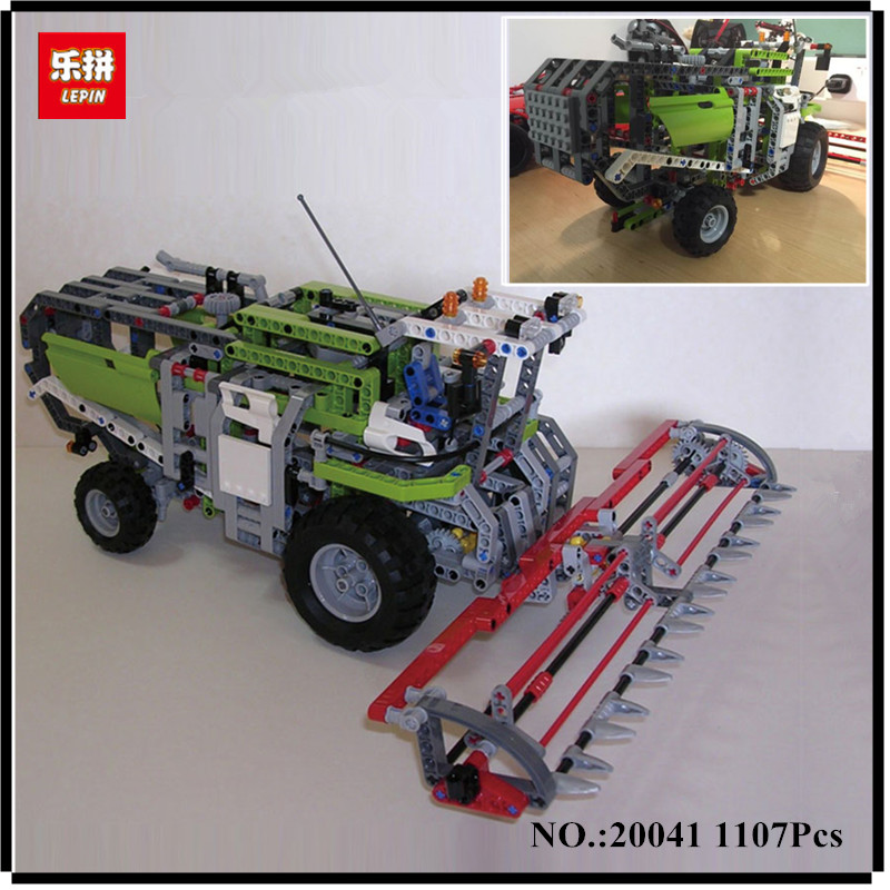 IN STOCK LEPIN 20041 1107Pcs Genuine Technic Series The Combine Harvester Set 8274 Educational Building Blocks Bricks Toys Model конструктор lego technic combine harvester 8274