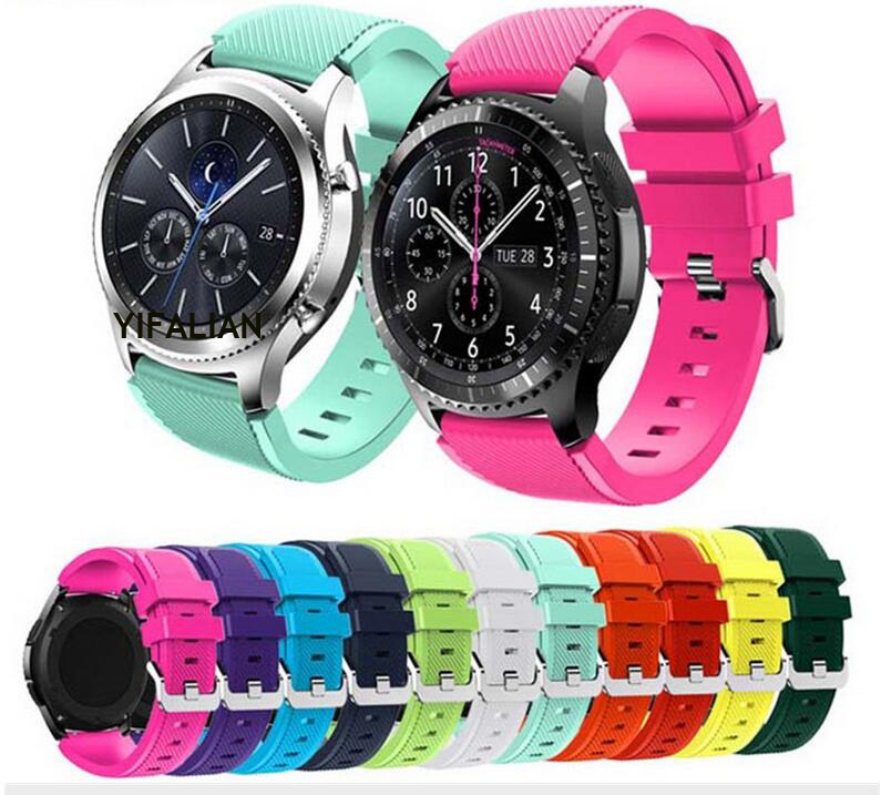 Newest Gear S3 Frontier / Classic Watch Band, 22mm Soft Watch Replacement Bracelet Strap for Samsung Gear S3 silicone straps watch strap 22mm watchbands for samsung gear s3 frontier band sport silicone classic bracelet replacement watches rubber straps