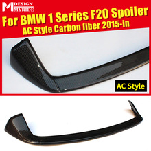 AC Style Roof Spoiler Tail For BMW F20 F20 118i 120i 125i 130i 135i Carbon Fiber Rear Spoiler Rear Trunk Wing car styling 2015+ for honda civic 2016 2017 type r style carbon fiber spoiler car decoration rear roof tail wing abs plastic black pattern spoiler