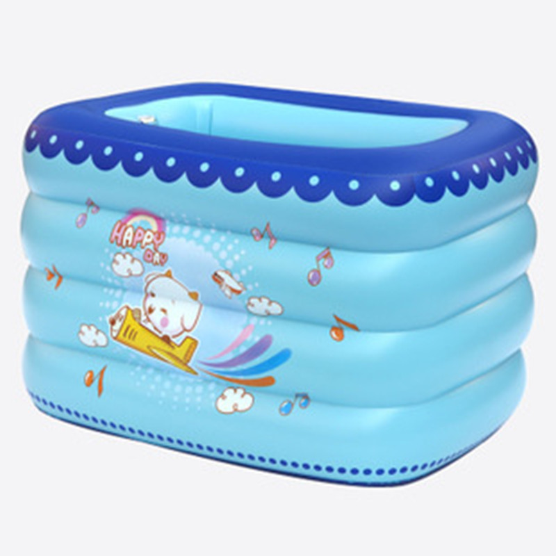 Inflatable Swimming Pool Cartoon Printing Heat Preservation Baby Bath Tub PVC Thicken Wear-resistant Paddling Pools G979 dual slide portable baby swimming pool pvc inflatable pool babies child eco friendly piscina transparent infant swimming pools