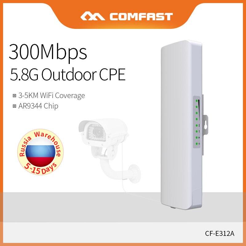 COMFAST haute puissance 5.8 Ghz CPE sans fil AP 300 Mbps extérieur sans fil WIFI Point d'accès 14dBi antenne Nanostation CF-E312N-V2