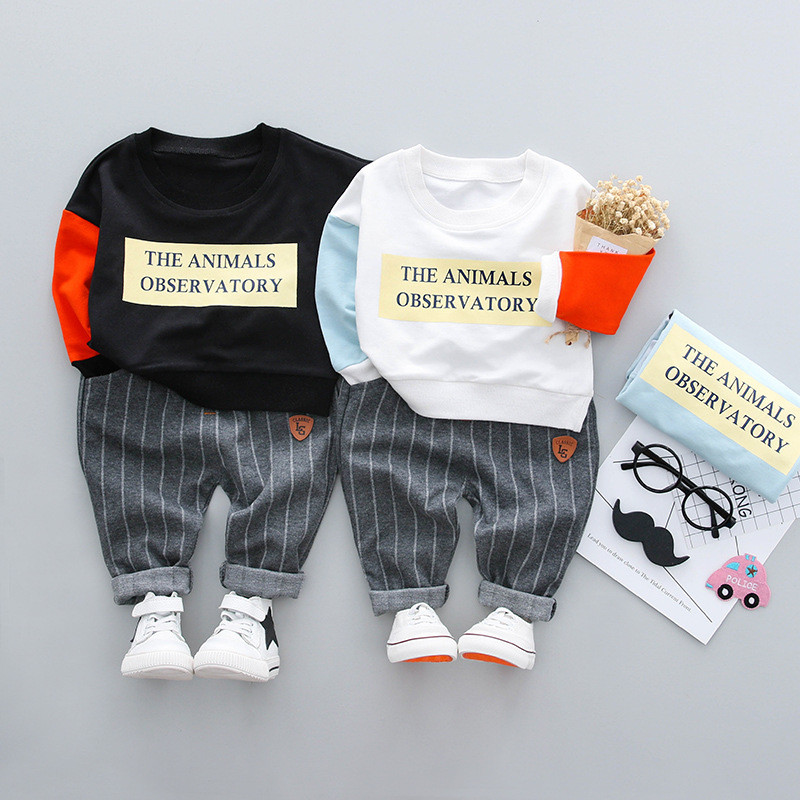 ideacherry Boys Casual Suits Baby Boys Sweatshirts+Pants Patchwork Tracksuit Sets for Kid Autumn Long Sleeve Sports Outfits Suit