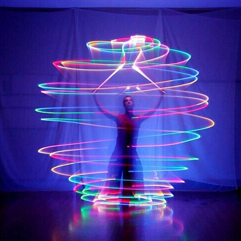 Светящиеся шары гирлянда 9 Poi танцевальный реквизит