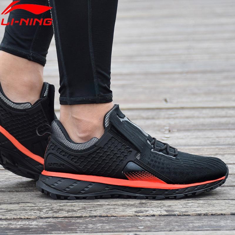 Li Ning Men LN CLOUD SHIELD 2018 Cushion Running Shoes WATER SHELL Mono Yarn Breathable LiNing