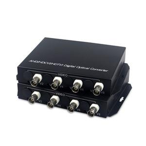 Image 3 - 1080P HD video AHD CVI TVI Fiber optische converter, 4 CH HD Video met RS485 1080p cvi ahd glasvezel naar coax converter