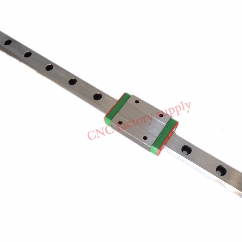 3D print teile cnc Kossel Mini MGN7 MGN12 MGN15 MGN9 miniatur linearschiene slide1pc MGN9 linearschienenführung + 1 stück MGN9 wagen H
