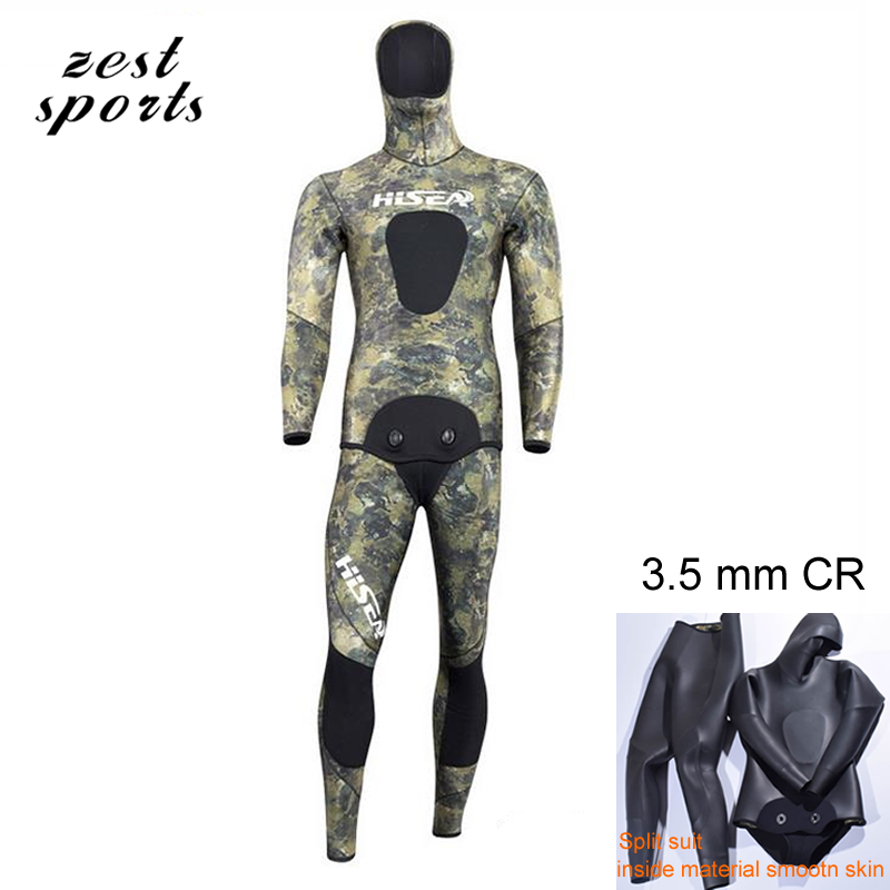 3.5mm men neoprene diving suit  Split wetsuit  Fishing and hunting clothing Siamese  CR, inside material smooth skin M017 5mm men neoprene diving suit split wetsuit fishing and hunting clothing siamese vest style hooded jacket my013