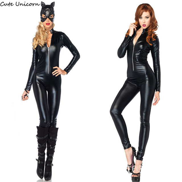 Cute Unicorn Superhero Black Widow / Catwoman Cosplay Costume + Mask Women Skinny Suit Ladies Role  sc 1 st  AliExpress.com & Cute Unicorn Superhero Black Widow / Catwoman Cosplay Costume + Mask ...