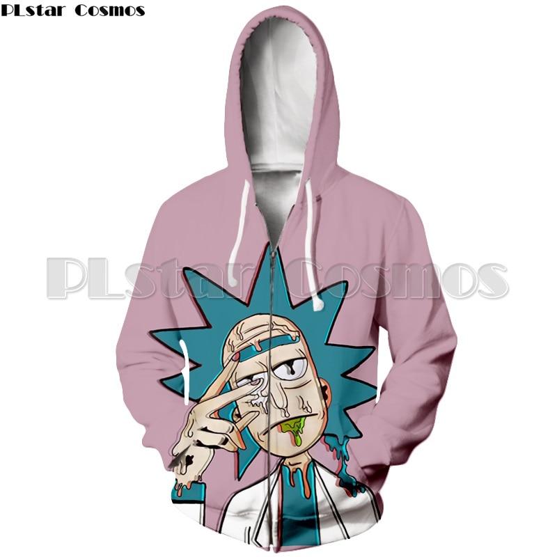 PLstar Cosmos 3d Cartoon Rick Streetwear Hoodies Women/Men Rick And Morty Sweatshirts Zipper Hoodies Autumn Jacket Tracksuits