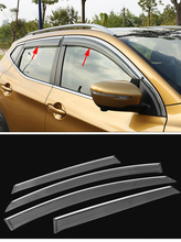 4pcs ACCESSORIES SET FIT FOR NISSAN QASHQAI 2014-2016 SIDE WINDOW RAIN DEFLECTORS GUARD VISOR WEATHERSHIELDS DOOR SHADE WEATHER