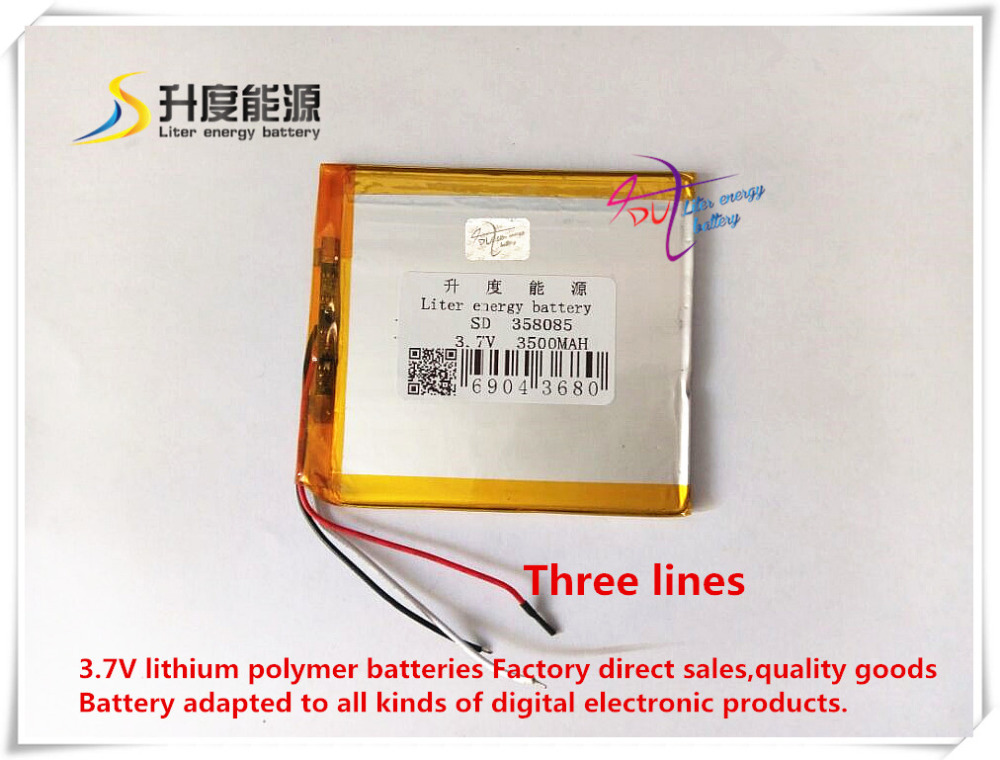 Free shipping 358085 3.7 V 3500 mah tablet battery brand tablet general polymer lithium battery free shipping brand teclast taipower p76s tablet pc mid large capacity lithium battery 357090 panels