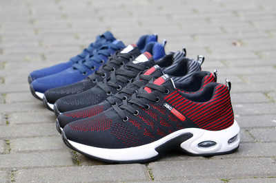 Moda 2019 zapatos casuales de verano para hombres, zapatos transpirables para trabajar al aire libre, zapatillas de hombre, zapatos de malla, almohadón de aire, zapatos antideslizantes para adultos